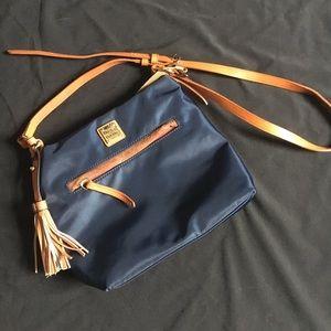 Dooney & Bourke navy blue shoulder bag